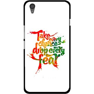 Snooky Printed Drop Fear Mobile Back Cover For One Plus X - Multi