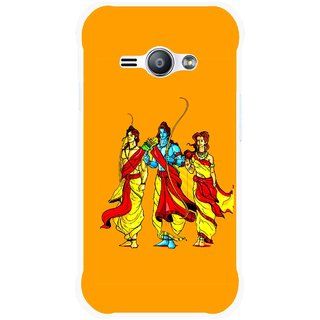 Snooky Printed God Rama Mobile Back Cover For Samsung Galaxy Ace J1 - Orrange