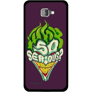 Snooky Printed Serious Mobile Back Cover For Micromax Canvas Mad A94 - Multi