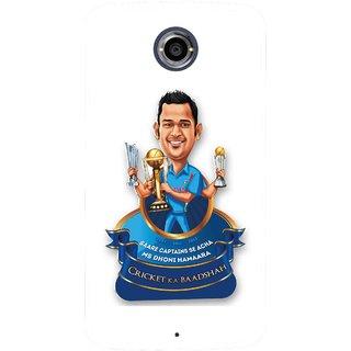 Snooky Printed Cricket Ka Badshah Mobile Back Cover For Motorola Nexus 6 - Multicolour