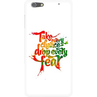 Snooky Printed Drop Fear Mobile Back Cover For Oppo R1 - Multi