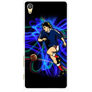 Snooky Printed Football Passion Mobile Back Cover For Sony Xperia Z5 Plus - Multi