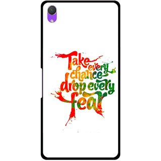 Snooky Printed Drop Fear Mobile Back Cover For Sony Xperia Z2 - Multi