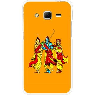 Snooky Printed God Rama Mobile Back Cover For Samsung Galaxy Core Prime - Orrange