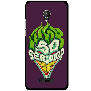 Snooky Printed Serious Mobile Back Cover For Micromax Canvas Spark Q380 - Multi