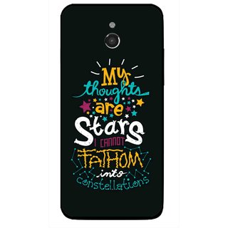 Snooky Printed Thoughts Are Stars Mobile Back Cover For Infocus M2 - Multicolour