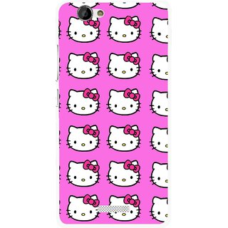 Snooky Printed Pink Kitty Mobile Back Cover For Gionee M2 - Multi