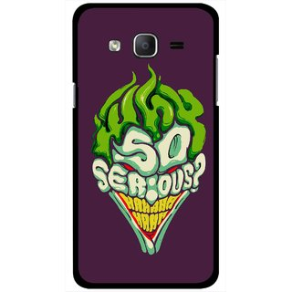Snooky Printed Serious Mobile Back Cover For Samsung Galaxy On5 - Multi