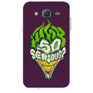Snooky Printed Serious Mobile Back Cover For Samsung Galaxy J7 - Multi