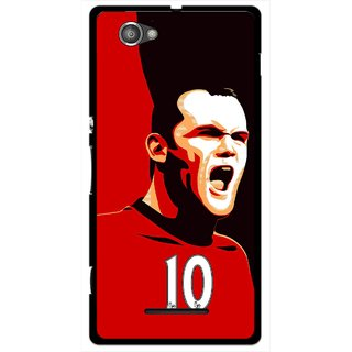 Snooky Printed Sports ManShip Mobile Back Cover For Sony Xperia M - Black