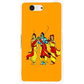 Snooky Printed God Rama Mobile Back Cover For Sony Xperia Z3 Compact - Orrange