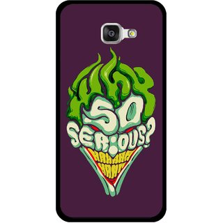 Snooky Printed Serious Mobile Back Cover For Samsung Galaxy A5 2016 - Multi