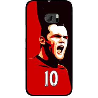 Snooky Printed Sports ManShip Mobile Back Cover For HTC One M10 - Black