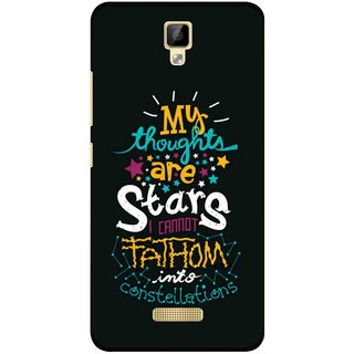Snooky Printed Thoughts Are Stars Mobile Back Cover For Gionee P7 - Multicolour