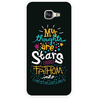Snooky Printed Thoughts Are Stars Mobile Back Cover For Samsung Galaxy A3 (2016) - Multicolour