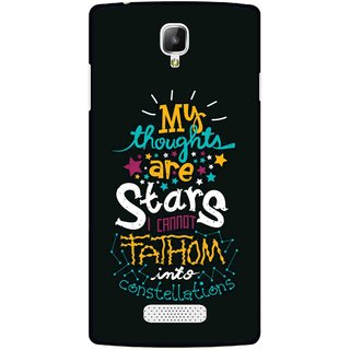 Snooky Printed Thoughts Are Stars Mobile Back Cover For Oppo Neo 3 R831k - Multicolour