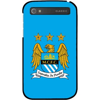 Snooky Printed Eagle Logo Mobile Back Cover For Blackberry Classic - Blue