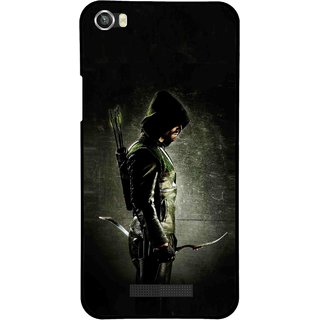 Snooky Printed Hunting Man Mobile Back Cover For Lava Iris X8 - Multi