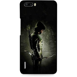 Snooky Printed Hunting Man Mobile Back Cover For Huawei Honor 6 Plus - Multi