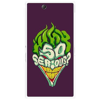 Snooky Printed Serious Mobile Back Cover For Sony Xperia Z Ultra - Multi