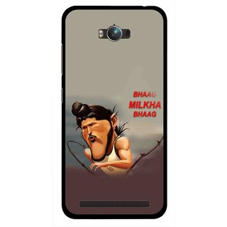 Snooky Printed Bhaag Milkha Mobile Back Cover For Asus Zenfone Max - Multicolour