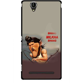 Snooky Printed Bhaag Milkha Mobile Back Cover For Sony Xperia T2 Ultra - Multicolour