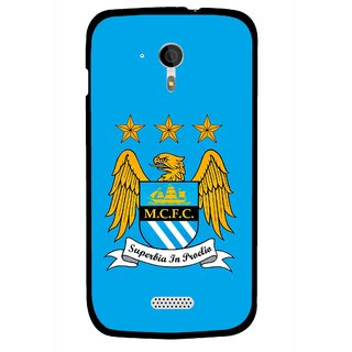 Snooky Printed Eagle Logo Mobile Back Cover For Micromax A116 - Blue