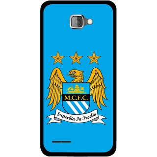 Snooky Printed Eagle Logo Mobile Back Cover For Micromax Canvas Mad A94 - Blue