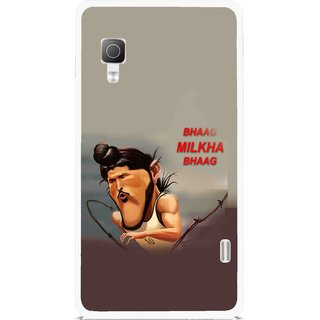 Snooky Printed Bhaag Milkha Mobile Back Cover For Lg Optimus L5II E455 - Multicolour