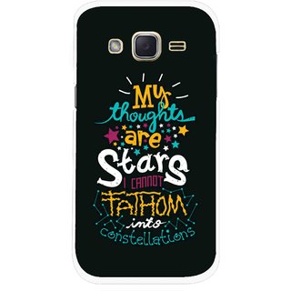 Snooky Printed Thoughts Are Stars Mobile Back Cover For Samsung Galaxy j2 - Multicolour