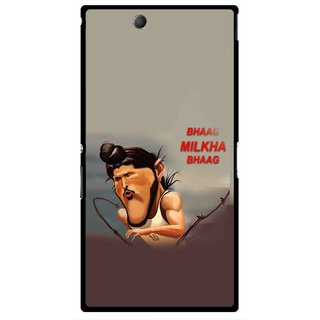 Snooky Printed Bhaag Milkha Mobile Back Cover For Sony Xperia Z Ultra - Multicolour