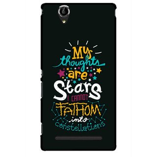 Snooky Printed Thoughts Are Stars Mobile Back Cover For Sony Xperia T2 Ultra - Multicolour