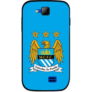 Snooky Printed Eagle Logo Mobile Back Cover For Micromax Canvas Fun A63 - Blue