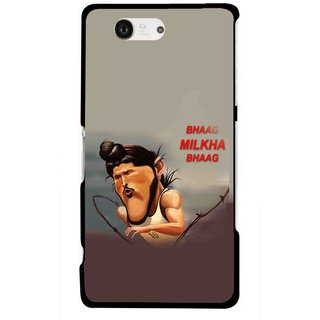 Snooky Printed Bhaag Milkha Mobile Back Cover For Sony Xperia Z3 Compact - Multicolour