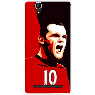 Snooky Printed Sports ManShip Mobile Back Cover For Sony Xperia T2 Ultra - Black