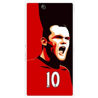 Snooky Printed Sports ManShip Mobile Back Cover For Sony Xperia Z Ultra - Black