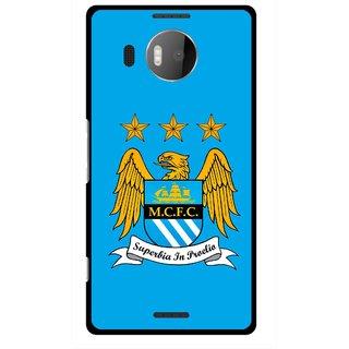Snooky Printed Eagle Logo Mobile Back Cover For Microsoft Lumia 950 XL - Blue