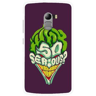 Snooky Printed Serious Mobile Back Cover For Lenovo K4 Note - Multi