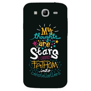 Snooky Printed Thoughts Are Stars Mobile Back Cover For Samsung Galaxy Mega 5.8 - Multicolour