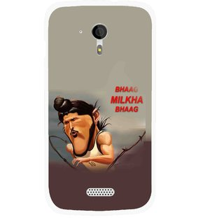 Snooky Printed Bhaag Milkha Mobile Back Cover For Micromax A116 - Multicolour
