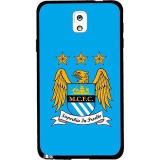 Snooky Printed Eagle Logo Mobile Back Cover For Samsung Galaxy Note 3 - Blue