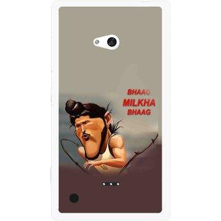 Snooky Printed Bhaag Milkha Mobile Back Cover For Nokia Lumia 720 - Multicolour
