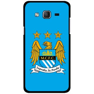 Snooky Printed Eagle Logo Mobile Back Cover For Samsung Galaxy On5 - Blue