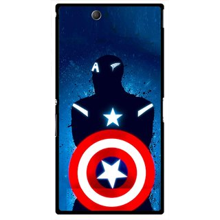 Snooky Printed America Sheild Mobile Back Cover For Sony Xperia Z Ultra - Multicolour
