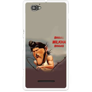 Snooky Printed Bhaag Milkha Mobile Back Cover For Sony Xperia M - Multicolour