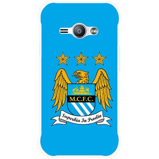 Snooky Printed Eagle Logo Mobile Back Cover For Samsung Galaxy Ace J1 - Blue