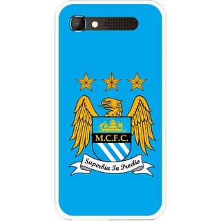Snooky Printed Eagle Logo Mobile Back Cover For Intex Aqua Y2 Pro - Blue