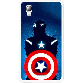 Snooky Printed America Sheild Mobile Back Cover For Micromax Canvas Doodle 3 A102 - Multicolour