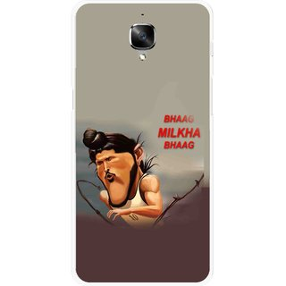 Snooky Printed Bhaag Milkha Mobile Back Cover For OnePlus 3 - Multicolour