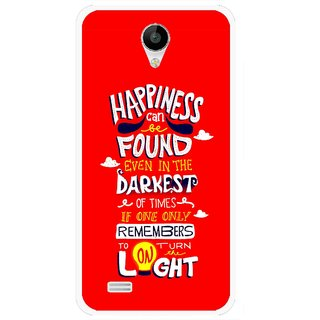 Snooky Printed Happiness Is Every Where Mobile Back Cover For Vivo Y22 - Red